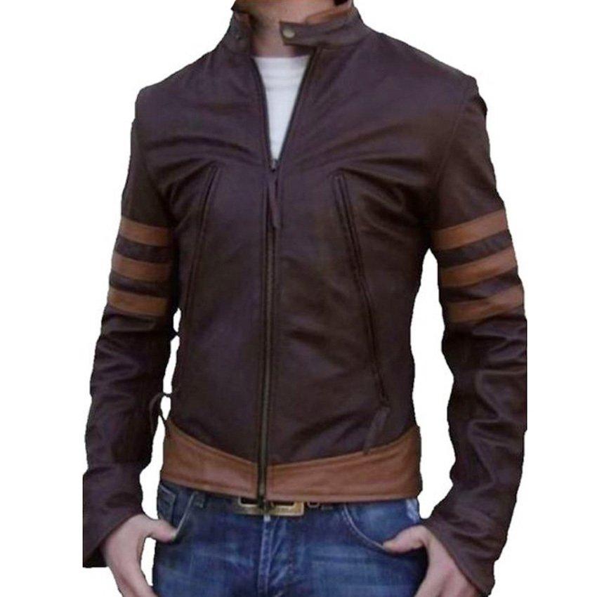 Trendy dan modis EM'S Jaket Semi Kulit - Wolv Coklat