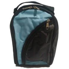 Emwe TSO Travelling Shoes Organizer (Tas untuk tempat sepatu, sandal dan kaos kaki travel berpergian traveling out door kantor )gym sepatu futsal olahraga, sepak bola, sport bag, badminton, running tennis - Hitam-Biru