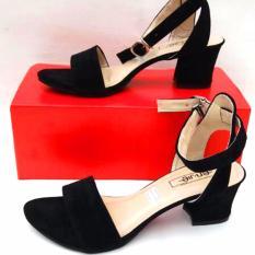 Jual En Jie Heeled Sandals Fr01 Black Di Jawa Barat