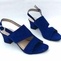 Toko En Jie Heeled Sandals Fr04 Blue Jawa Barat