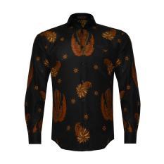 Jual En Zy Men Batik Gurdo Long Sleeve Shirt Black Murah