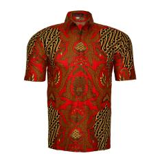 Diskon En Zy Men Batik Shirt Brave Red Branded