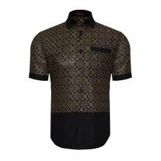 En Zy Men Batik Shirt Truntum Black Diskon Akhir Tahun