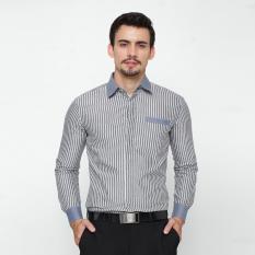 Harga En Zy Men Shirt Long Sleeve Striped Grey Branded