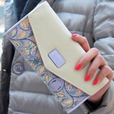 Spesifikasi Tombol Kopling Dompet Amplop Kulit Tas Tas Tangan Panjang Ungu Internasional