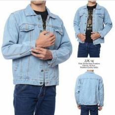 Harga Enzu Acc Jaket Pria Jeans Denim Premium Jacket Men S Biru Fullset Murah