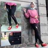 Tips Beli Enzu Arsha Celana Jeans Wanita Soft Jeans Street Motif Bordir Bangau Bunga Rumbai Yang Bagus