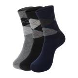 Harga Eozy Fashion 3 Pair Mens Murni Kapas Kaus Kaki Rhombus Dicetak Breathable Casual Socks Grey Intl Lengkap