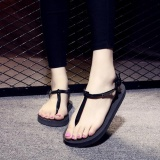 Diskon Ep Jual Hot Fashion Cewek Dan Wanita Toe Clip Sepatu Beach Flip Flop Sandal Hitam Intl Branded