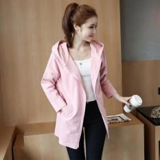 EP Wanita Fashion Pendek Lengan Panjang Rompi Rompi Slim Causal Kantor Lady Formal Jaket Blazers-Pink-Intl