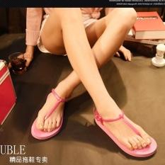Spesifikasi Ep Wanita Ladies Fashion Kasual Flat Sandal Pantai Shoes Sandal Pink Intl Yg Baik