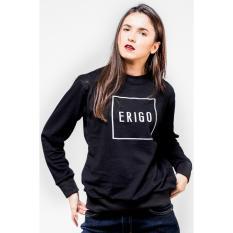 Beli Erigo Sweatshirt Milton Black Unisex Pake Kartu Kredit