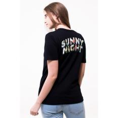 Erigo Tshirt Sunny Night Black Unisex Terbaru