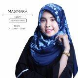Beli Erloz Hijab Segiempat Royal Maxmara Navy Hijab Asli