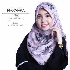 Jual Erloz Hijab Segiempat Royal Maxmara Pink Ori
