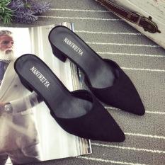 Toko Sendal Di Eropa Dan Amerika Menunjuk Sepatu Hitam Perempuan Hitam Lengkap Di Tiongkok