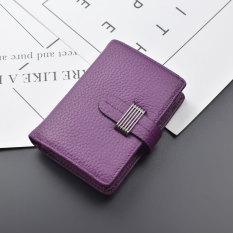 Eropa dan Amerika kulit baru lipat kecil wallet ayat pendek dompet (Yang