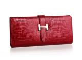 Ulasan Lengkap Dompet Kulit Wanita Kulit Sapi Model Panjang Tiga Lipatan Versi Eropa Dan Amerika Merah