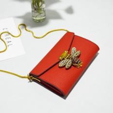 Eropa atau Amerika Serikat Wanita Baru Lebah Tas Tali Rantai Tas Selempang ( Merah)