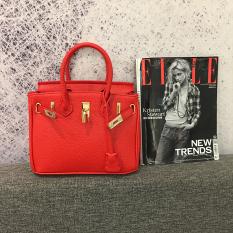 Eropa Dan Amerika Serikat Mini Tas Model Hermes Tas Wanita (25CM Merah)