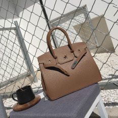Eropa Dan Amerika Serikat Musim Semi Baru Tas Model Hermes Modis Tas Wanita (Brown)