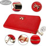 Beli Esogoal Fashion Lady Women Clutch Leather Long Wallet Card Holder Purse Bow Handbag Red Murah Tiongkok