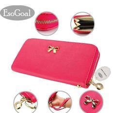 Beli Esogoal 2017 Fashion Lady Women Clutch Leather Long Wallet Card Holder Purse Bow Handbag Hot Pink Intl Yang Bagus