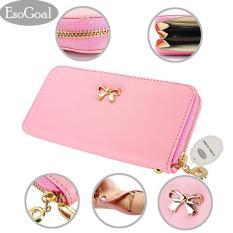 Jual Esogoal Fashion Lady Women Clutch Leather Long Wallet Card Holder Purse Bow Handbag Pink Esogoal Online