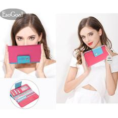 Jual Cepat Esogoal Dompet Fashion Wanita Genggam Kulit Style Fashion Bag Purse Leather Wallet Purse