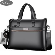 Toko Esogoal Pria Leather Briefcase Laptop Handbag Messenger Tas Bisnis Lengkap