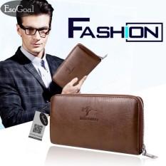 Jual Esogoal Dompet Kulit Panjang Pria Bisnis Premium Clutch Wallet Handbag Men Fashion Hand Bag Pu Leather Wallet Lengkap