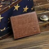 Spesifikasi Esogoal Pendek Dompet Kulit Pria Leather Wallet Man Wallet Mini Short Purse Bifold Men Fashion Tas Coin Bag Pria Dompet Pemegang Kartu Dan Harga