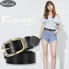 Beli Esogoal Retro Belts Women Casual Embossing Pu Leather Belt Ladies Fashion All Match Pin Buckle Jeans Belt Intl Lengkap