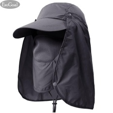 EsoGoal Musim Panas Topi Matahari Perlindungan Caps Flap 360°Outdoor Fishing Hat With Removable Neck