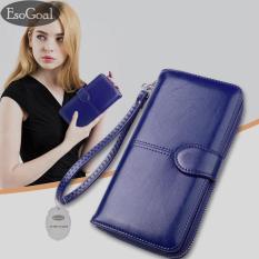 Jual Esogoal Dompet Wanita Kapasitas Besar Clutch Kulit Bifold Dengan Kantong Telepon Branded Original
