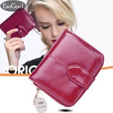 Dapatkan Segera Esogoal Wanita Mini Lembut Kulit Bifold Clutch Dompet With Jendela Kantong Kartu Id Coin Purse