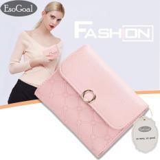 Diskon Esogoal Wanita Mini Soft Leather Clutch Bifold Pocket Dompet Tas Tas Case Dompet Wanita Dompet Koin Esogoal
