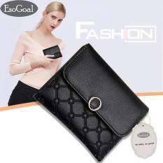 Beli Esogoal Wanita Mini Soft Leather Clutch Bifold Pocket Dompet Tas Tas Case Dompet Wanita Dompet Koin Cicilan