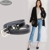 Beli Esogoal Wanita S Kulit Ikat Pinggang Wanita Kasual Sabuk Dengan Brushed Alloy Untuk Jeans Shorts Pants Hitam Intl Pake Kartu Kredit