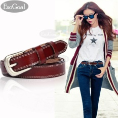 Esogoal Wanita Kulit Ikat Pinggang Wanita Kasual Sabuk With Brushed Alloy For Jeans Shorts Pants Brown Esogoal Murah Di Tiongkok