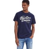 Beli Esprit 037Cc2K046 Male S T Shirts Navy Online Terpercaya