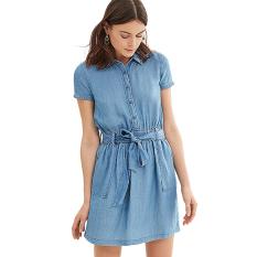 Esprit 037EE1E004 Women's Dresses - Blue
