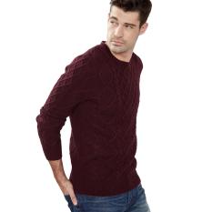 Tips Beli Esprit 116Ee2I032 Male S Sweaters Bordeaux Red Yang Bagus