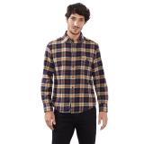 Model Esprit Check Flannel Shirt 100 Cotton Honey Yellow Terbaru