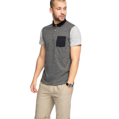 Beli Esprit Colour Block Jersey Polo Cotton Blend Anthracite Pake Kartu Kredit