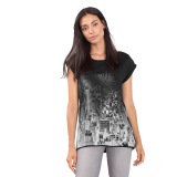 Dimana Beli Esprit Cotton T Shirt With Shiny Print Black Esprit