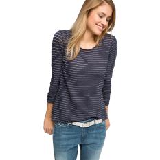Harga Esprit Cotton Linen Top With Lurex Navy Esprit Online