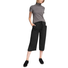 Jual Esprit Culottes Made Of Fluid Fabric Black Baru