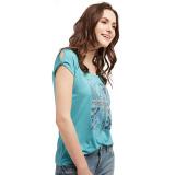 Katalog Esprit Cut Out Sleeve T Shirt Aqua Green Terbaru