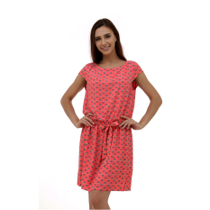Esprit Floaty Dress With A Floral Print - Pink